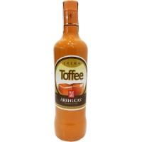 Arehucas - Licor Crema Toffee Toffee-Likör 17% Vol. 700ml hergestellt auf Gran Canaria