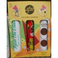 Aguere - Ron Aguere Licor Set Caramelo, Coco, Pina Colada 3x700ml hergestellt auf Teneriffa