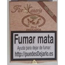 Flor de Canarias - Delicados 25+2 Zigarillos Holzschatulle hergestellt auf Teneriffa