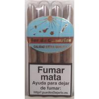 Flor de Canaria - Puros Tubular Calidad Extra Quality 4 Zigarren einzeln in Röhrchen verpackt hergestellt auf Teneriffa
