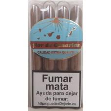 Flor de Canaria - Puros Tubular Calidad Extra Quality 4 Zigarren einzeln in Röhrchen verpackt hergestellt auf Teneriffa - LAGERWARE