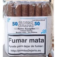Glorias Cubanas - Ramas Escogidas Calidad Selecta 50 Zigarren hergestellt auf La Palma