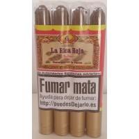 La Rica Hoja - Puro Tubo Zigarren 4 Stück jeweils in Plastikröhrchen hergestellt auf La Palma