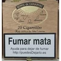 Minis de Canarias - 20 Cigarrillos Zigarillos Holzschachtel hergestellt auf Teneriffa