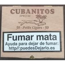 Cubanitos - Special 50 Petits Cigars Zigarillos in Holzschatulle hergestellt auf Teneriffa - LAGERWARE