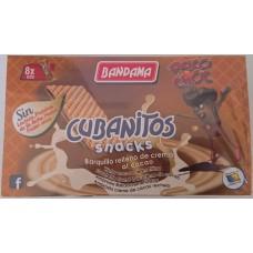 Bandama - Cubanitos Snacks Psico Choc Cacao Barquillo Relleno Waffeln mit Schokocreme 8 Stück 224g hergestellt auf Gran Canaria - LAGERWARE
