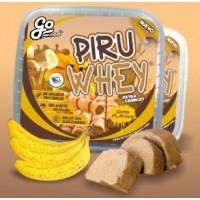 GoFood - Piru Whey extra crunch Gofio Platano Waffelröllchen mit Gofio- und Bananen-Geschmack 200g Becher hergestellt auf Teneriffa
