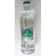 Fuenteror - Agua con gas Mineralwasser mit Kohlensäure 330ml Glasflasche Kronkorken hergestellt auf Gran Canaria