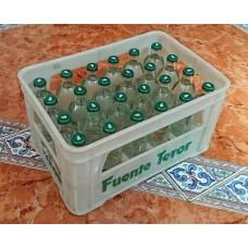 Fuenteror - Agua con gas Mineralwasser mit Kohlensäure 330ml x 24 Glasflaschen Kronkorken Kasten hergestellt auf Gran Canaria