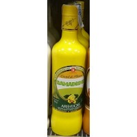 Arehucas - Banadrink Bananen-Cremelikör 700ml 17% Vol. hergestellt auf Gran Canaria