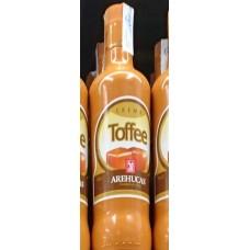Arehucas - Licor Crema Toffee Toffee-Likör 700ml 17% Vol. hergestellt auf Gran Canaria - LAGERWARE