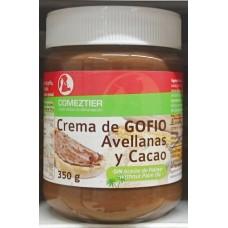 Comeztier - Crema de Gofio Avellanas y Cacao Gofio-Haselnuss-Schoko-Aufstrich 350g Glas hergestellt auf Teneriffa - LAGERWARE