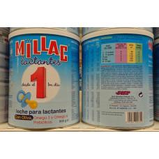 Millac - 1 Leche para lactantes Baby Milchpulver ab dem ersten Tag 800g Dose hergestellt auf Gran Canaria