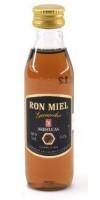Arehucas - Ronmiel Guanche Ron Miel Honigrum 20% Vol. 50ml PET-Miniaturflasche hergestellt auf Gran Canaria - LAGERWARE