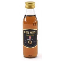 Arehucas - Ronmiel Guanche Ron Miel Honigrum 20% Vol. 50ml PET-Miniaturflasche hergestellt auf Gran Canaria