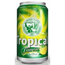 Tropical - Limon Bier Radler 330ml Dose 2,6% Vol. 6 Dosen hergestellt auf Gran Canaria - LAGERWARE