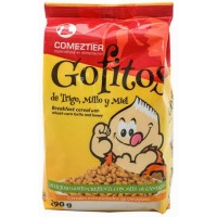 Comeztier - Gofitos de Trigo y Millo y Miel Weizen-Mais-Honig-Cereals Gofio Tüte 290g hergestellt auf Teneriffa