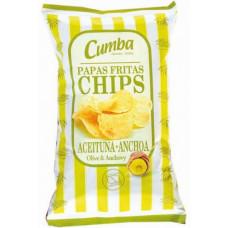 Cumba - Chips Papas Fritas Sabor Aceitunas & Anchos 120g hergestellt auf Gran Canaria