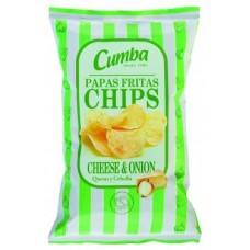 Cumba - Chips Papas Fritas Cheese & Onion (green) 120g hergestellt auf Gran Canaria