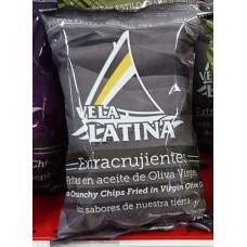 La Vela Latina - Chips Papas Extracrujientes Fritas en aceite de Oliva Virgen Kartoffelchips Olivenöl 150g hergestellt auf Teneriffa