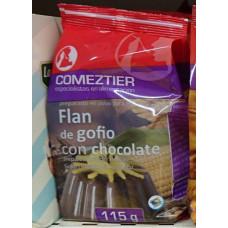 Comeztier - Flan de Gofio con chocolate Gofio-Schoko-Pudding 115g Tüte hergestellt auf Teneriffa -LAGERWARE