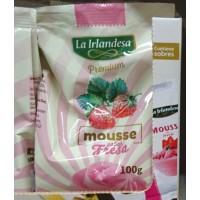 La Irlandesa - Mousse Sabor Fresa Dessert mit Erdbeergeschmack 100g Tüte hergestellt auf Gran Canaria