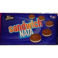 Tirma - Sandwich Nata Cremefüllung Schokolade Doppelkeks 172g hergestellt auf Gran Canaria