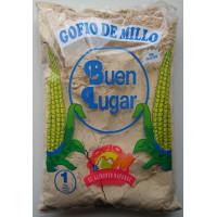 Buen Lugar - Gofio de Millo natural sin gluten Maismehl geröstet glutenfrei 1kg Tüte hergestellt auf Gran Canaria