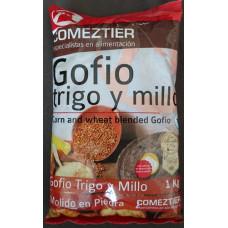 Comeztier - Gofio de Trigo y Millo Weizen- & Maismehl geröstet 1kg hergestellt auf Teneriffa - LAGERWARE