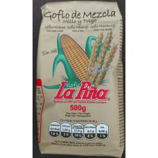 Gofio La Piña - Gofio de Mezcla Millo y Trigo Weizen- & Maismehl geröstet 500g hergestellt auf Gran Canaria - LAGERWARE MHD: 08.10.2020