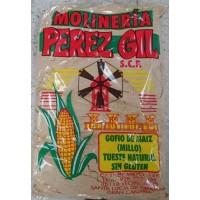 Molineria - Perez Gil Gofio de Maiz (Millo) tueste natural sin gluten Mais-Vollkornmehl glutenfrei 1kg hergestellt auf Gran Canaria
