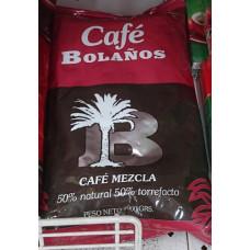 Cafe Bolanos - Cafe Molido de Tueste Natural 50% Torrefacto 50% Kaffee ganze Bohnen 1kg Tüte hergestellt auf Gran Canaria