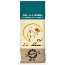 Cafe la Aldeana - Cafe Molido Mezcla 50% Natural 50% Torrefacto 250g Röstkaffee gemahlen Tüte angebaut auf Gran Canaria - LAGERWARE