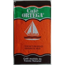 Cafe Ortega - Cafe Molido de Tueste Natural Kaffee gemahlen 250g Karton hergestellt auf Gran Canaria - LAGERWARE