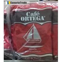 Cafe Ortega - Molido Mezcla 50% natural & 50% torrefacto Kaffee gemahlen Tüte 250g hergestellt auf Gran Canaria