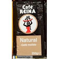Cafe Reina - Tueste Natural Cafe Molido Kaffee gemahlen 250g hergestellt auf Teneriffa - LAGERWARE