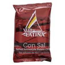 La Vela Latina - Chips Papas artesanales Patatas fritas con sal Kartoffelchips gesalzen 45g hergestellt auf Teneriffa