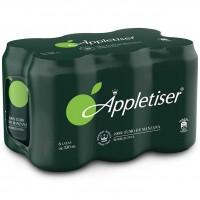 Appletiser - Apfelschorle Apfelsaft mit Kohlensäure 330ml Dose im 6er-Pack hergestellt auf Teneriffa