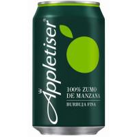 Appletiser - Apfelschorle Apfelsaft mit Kohlensäure 330ml Dose im 24er-Pack hergestellt auf Teneriffa