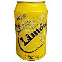 Gianica - Limon Zitronen-Limonade 6% Dose 330ml hergestellt auf Gran Canaria