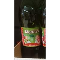 Gianica - Manzana Apfelgetränk mit Kohlensäure 8% Saftanteil 2l PET-Flasche hergestellt auf Gran Canaria