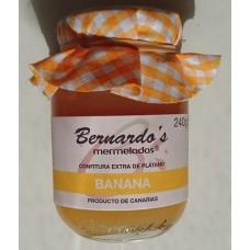 Bernardo's Mermeladas - Banana Confitura extra de Platano Bananenkonfitüre 240g hergestellt auf Lanzarote