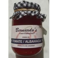 Bernardo's Mermeladas - Crema de Tomate/Albahaca Tomaten-Basilikum-Konfitüre 240g hergestellt auf Lanzarote
