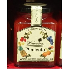 Palmelita - Pimiento Confitura Extra Marmelade Paprika 335g hergestellt auf Teneriffa - LAGERWARE