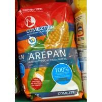 Comeztier - Arepan Harina Especial para Arepas Mehl für Maisbrot 1kg Tüte hergestellt auf Teneriffa - LAGERWARE - MHD: 31.10.19