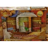 Mojo Canarion - Special Fondeu Geschenkset mit 3 Mojo Saucen Verde, Suave und Picon 3x80g 247ml/240g hergestellt auf Gran Canaria