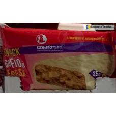 Comeztier - Barrita Snack de Gofio & Fresa Riegel 3x25g hergestellt auf Teneriffa