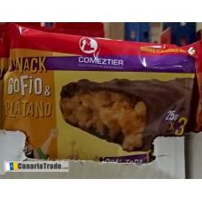 Comeztier - Barrita Snack de Gofio & Platano Riegel 3x25g hergestellt auf Teneriffa
