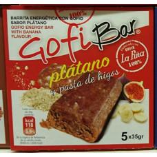 GofiBar - Platano y pasta de higos Müsliriegel mit Gofio 5x35g hergestellt auf Gran Canaria
