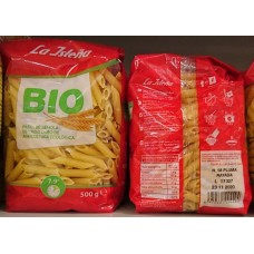 La Isleña - Pluma Rayada Ecologica Bio-Röhrchenudeln 500g hergestellt auf Gran Canaria - LAGERWARE